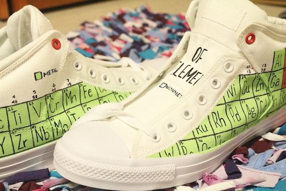 Periodic table of elements shoes custom made shoes custom periodic table of elements shoes custom made shoes custom design chemistry nerds chemistry table elements shoes coffeecreamer shoes urtaz Gallery