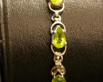 ON SALE Facinating Peridot Silver Bracelet