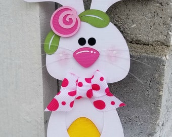 Country Cutie Bunny and Chick Easter Premade Paper Piecing Scrapbook Scrapbooking Die Cut