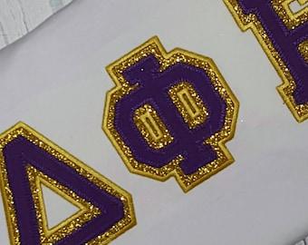 Custom Greek Letter Sorority Applique Shirt Greek Letter Shirt Polka dot sorority shirt