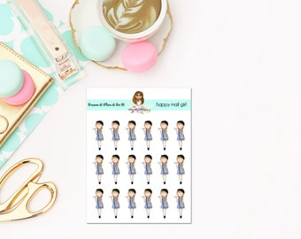 Cute Happy Mail Girl Planner Stickers