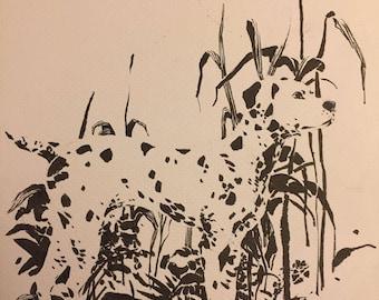 Dalmatian drawing