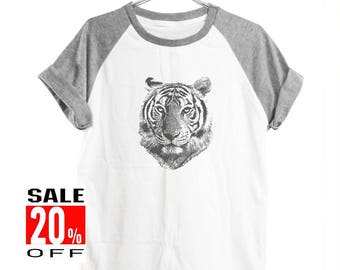 Tiger tshirt animal top hipster graphic tshirt funny tee tumblr shirt slogan shirt women workout tshirts women shirt men shirt size S M L