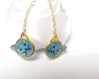 These earrings cute cats