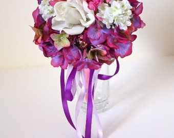 Posy in Bright Pink and Purple Violet, Spring Weddings, Summer Weddings, Bridesmaids