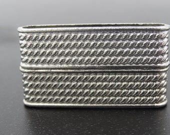 Magnetic Bar Clasp 36x19mm Silver