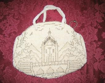 4  1950's European Milk Bead Handbag