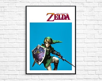 The Legend of Zelda Minimalist Alternative Video Game Print Poster