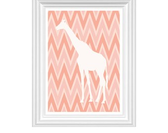 Giraffe Nursery Art Print Wall Art Custom Print -Home Decor - 8x10 Print Kids room Playroom