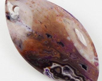 Purple Ocean Jasper Pendant Bead - 59x31x7mm