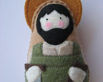 Saint Joseph the Worker...Felt Softie