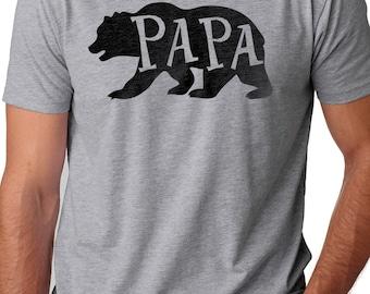 Papa Bear Shirt Mens T shirt Papa Shirt Fathers Day Gift Dad Shirt Papa Gift Husband Shirt Dad Bear Tee Husband Gift Bear T-shirt