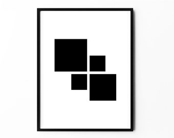 Home Decor, Home Decorations, Home Art, Home Posters, Square Art Posters, Square Prints, Square Geometric Art, Square Minimalist Art, Prints
