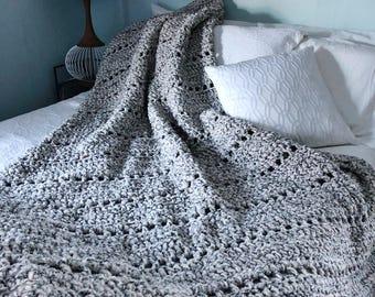 Nap Time Blanket / Fleece Blanket / Crochet Blanket