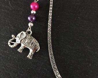 Tibetan Elephant Beaded Bookmark Charm
