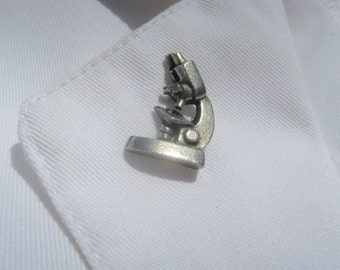 Stereo Microscope Lapel Pin - CC384- Science and Science Teacher Pins