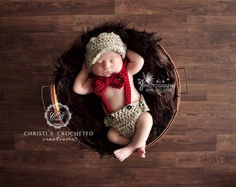 The ORIGINAL LITTLE MAN outfit- Little Man Suit- Baby Boy Outfit- Designer Outfit- Vintage Baby- Diaper Covers- Bow Tie- Suspenders- Newborn