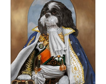 Lhasa Apso Art Prints, Pepe, Dogs in Clothes, Dog Wall Art