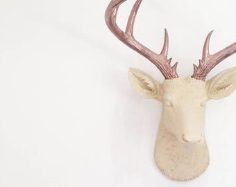 ANY COLOR Large Deer Head Wall Mount // Faux Taxidermy // Fake Animal Head // Antler // Woodland // Stag // Nursery // Rustic Wedding Decor