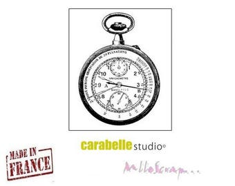 Mini stamp watch Carabelle Studio made in France (ref.210) scrapbooking embellishment
