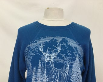 Boat Neck Stag Sweater