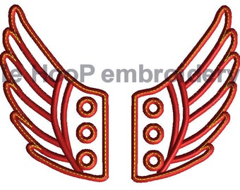 4x4 5x7 ANGEL Fairy Shoe Wings Machine Embroidery In-Hoop Design Superhero shoelace Steampunk Costume Percy Jackson Hermes Mercury Inspired