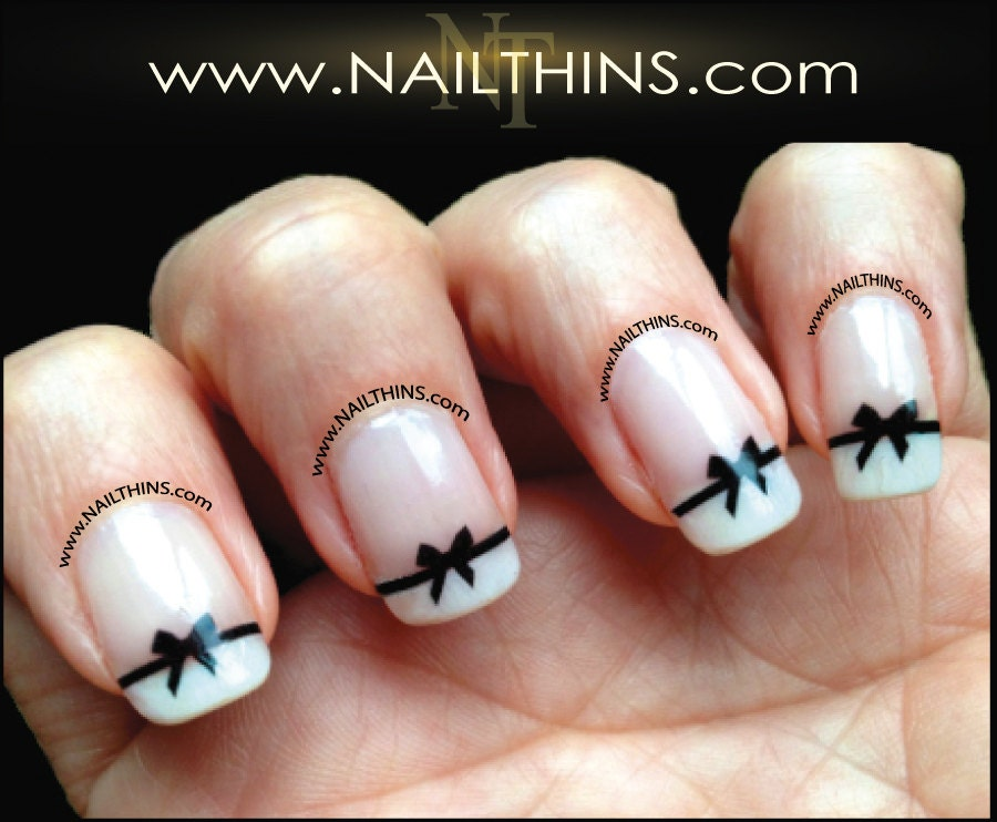 White Tip Nail Stickers Hireability