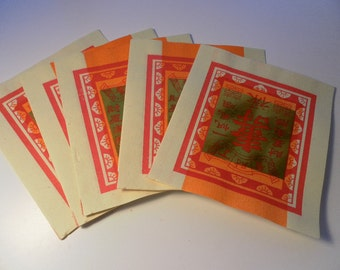 25 sheets  Asian Joss Paper Squares