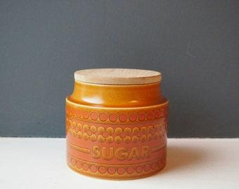 Hornsea Pottery Saffron Design Sugar Storage Pot, Sugar Container, Sugar Canister, Sugar Jar, Vintage Crockery, Kitchen Storage, Ceramic Jar