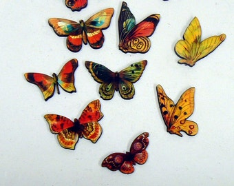 10 Butterfly wood laser cut outs