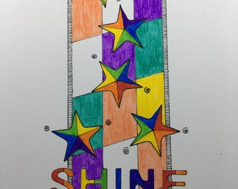 Shine Holiday Greeting Card Set for Christmas, Solstice, or other Occasions