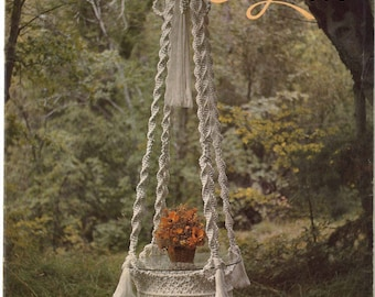 Vintage Macrame Elegance I Patterns Book 1970s Learning Knots How To Instructions PDF Instant Download 20 Projects Pot Hanger Owls Knotwork