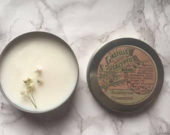 Eucalyptus Spearmint Candle - Aromatherapy Candle - Natural Candle - Essential Oil Candle - Wedding Favor - Apothecary Candle - Candles -