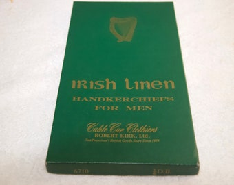Vintage Irish Linen Handkerchiefs Set