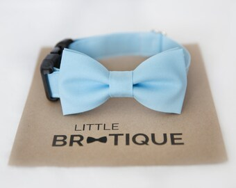 Light Blue Dog Bow Tie Sent 1-3 business days after you order