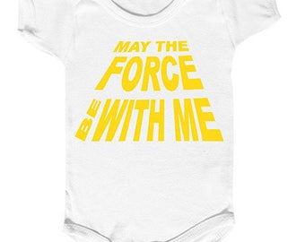 "Bodysuit baby ""may the force be with me"" baby jedi"