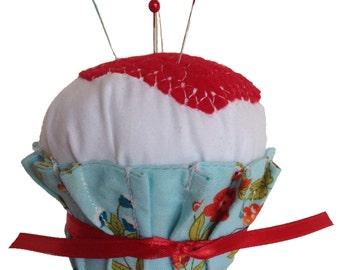 Pincushion, Cupcake Pincushion, Cupcake, Pin Cushion, Cupcake Pin Cushion, Sewing Accessories, Pins, Pin Organizer, Walnut Shells, CCPIN308