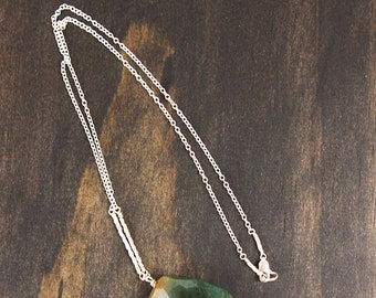 Indian Agate Nugget Pendant Necklace