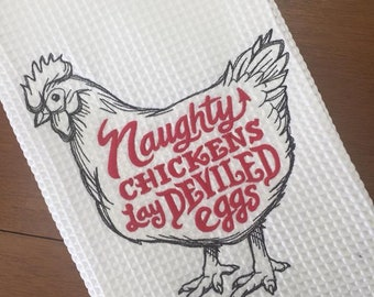 Naughty Chickens Hand Towel