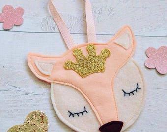Felt Fox Decoration, Fox Ornament, Fox Twiggy, Hanging Decoration, Nursery Decoration