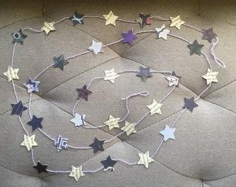 Purple Star Garland