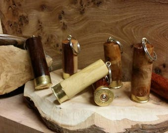 Key ring keep safe shotgun cartridge key ring