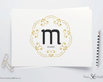 Instant Download Logo DIY Logo Design Photoshop Logo PSD Logo Template Photography Logo Website Logo Blog Logo Vintage Monogram Logo Design