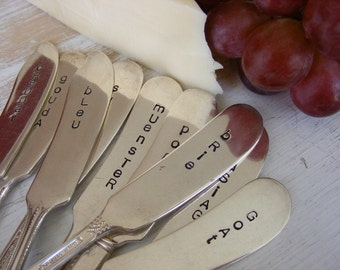 Cheese Markers Cheese Knives Holiday Knives Pick any Five