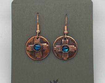 Zia Copper Earrings