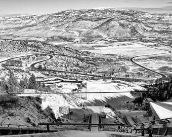 "An Olympians View printed 16""x16"", Ski Jump, Landscape Photography,Winter Photography, Park City,Winter Olympics, Mountain Photography"