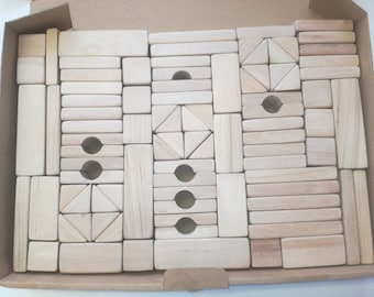 Building blocks/Wooden blocks/Forest building kit/wood construction set/Educational Kids Toy/Eco/Learning Toy/Handmade