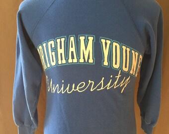 Vintage Brigham Young University (BYU) Sweatshirt, Size: Small