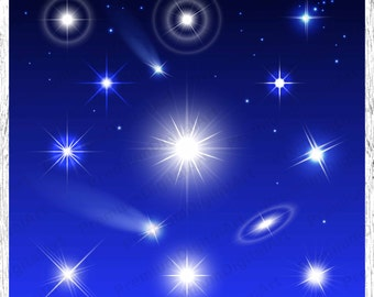 15 Lens flare clipart, flash clipart, stars clipart, comets clipart, glow clipart, lights clipart, effect for Photoshop,scrapbooking clipart