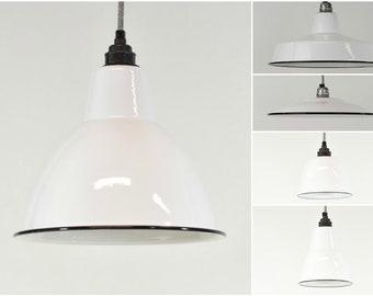 warehouse style lighting. Brilliant White Enamel Vintage Factory Industrial Warehouse Style Light Lamp Shades - 5 Shapes Lighting S